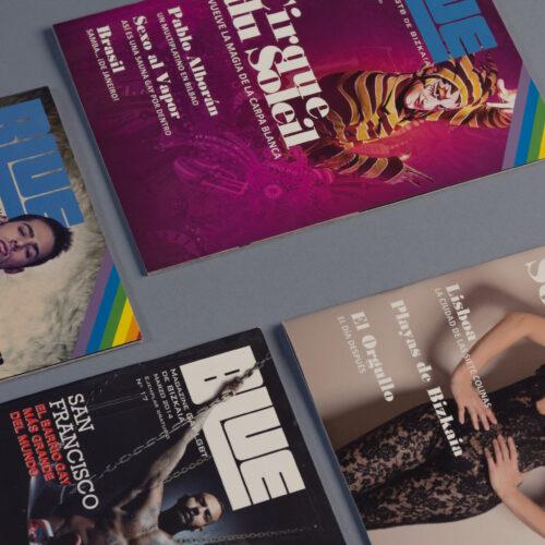Revista de publicación mensual | Blue