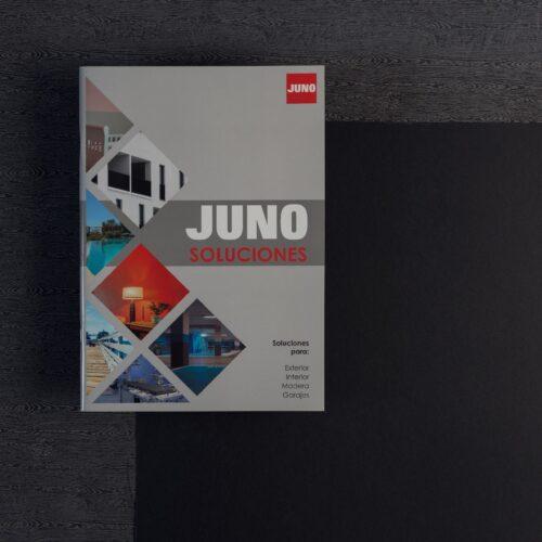 Catálogo comercial impreso en color, encuadernación fresada