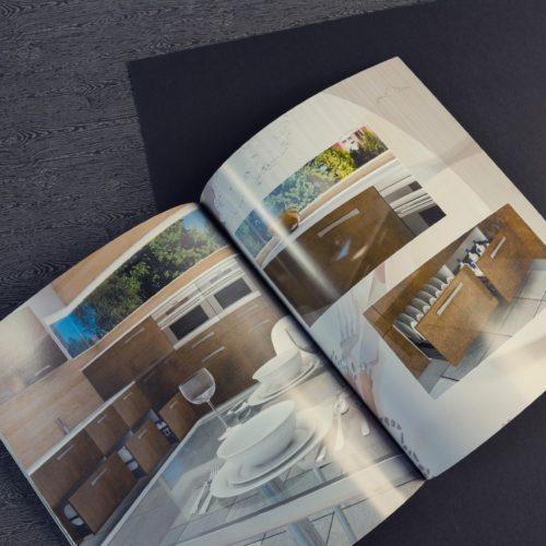 Catálogo comercial con gestión de color