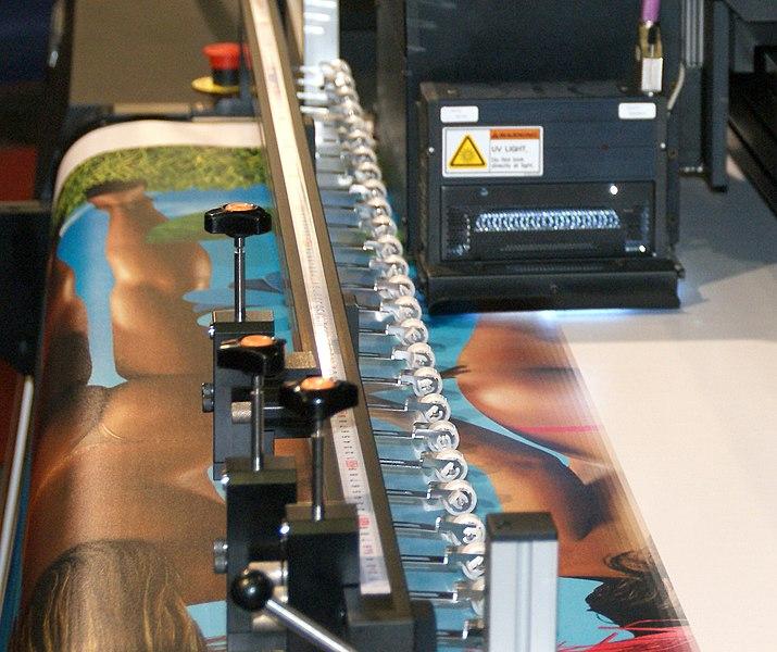 Impresión inkjet UV mediante plotter